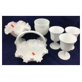 Collection of Milk Glass
