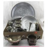 Assorted Aluminum, Pewter, & Silver Plated Items