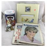 Quaker Cookie Jar, Pooh Album, Diana Ephemera