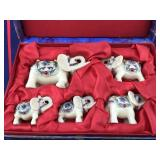 Set of 5 Boxed Elephants From China