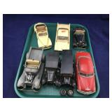 Vintage Collection of 7 Mid Size Vintage Cars