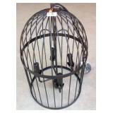 Wrought iron birdcage chandelier lamp