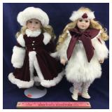 Two Seymour Mann Christmas Dolls