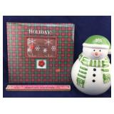 Christmas Album & Snowman Cookie Jar
