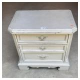 Painted two drawer nightstand