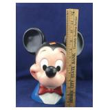 Large Hard Plastic Mickey Mouse Head Bank
