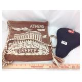 Hand woven Athens bag and gel bike seat cover