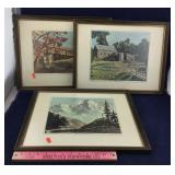 Three Framed Prints of Eisenhower Paintings