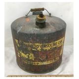 Vintage Galvanized Gasoline Can