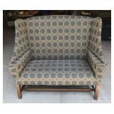 Upholstered High Back Loveseat