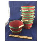 Stack of 8 Red and Green Baskets