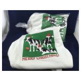 3 XL Custom Designed Xmas Cow Sweatshirts