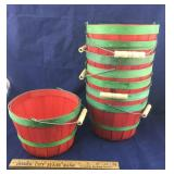 8 Red and Green Baskets