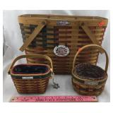 Three American Flag Themed Longaberger Baskets