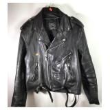 Leather motorcycle jacket by Tannery West