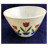 Vintage Large Fire King Oven Ware Tulip Bowl