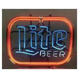 Vintage Miller Lite Beer Neon Sign