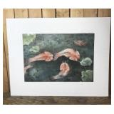 Original Watercolor Painting of Fish