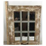 Wooden Window Framed Mirror