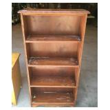 Small vintage maple bookshelf