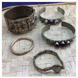 5 Vintage or Older Bracelets Incl Baby Bracelet