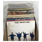 Collection of Beatles & Rolling Stones Records