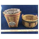 Pair of Small Longaberger Baskets