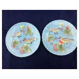 Ceramic or Porcelain Pair of Plates