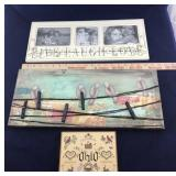 Pair of Photo Hangers and Ohio Wall Hanging