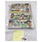 12 sleeves of vintage baseball cards