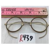 Antique gold filled tortoise shell type spectacles
