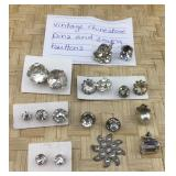 Vintage Rhinestone Pins and Sewing Buttons