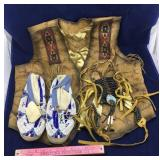 Western Vest, Native American Shoes & Ornament
