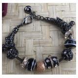 Black Pandora Type Bracelet
