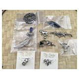 Sterling Silver Charms, Earrings and Pins