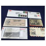 Old Postcards and Envelopes With Canceled Stamps