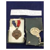 1928 Bronze Cambria Co HS Mile Relay Medal