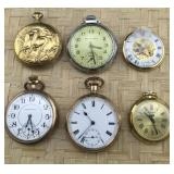 6 AS IS Pocket Watches