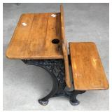 Antique Fold up child's school desk