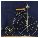 Brass Old Fashioned Bike Wall Decoration