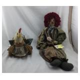 Stuffed Doll And Hen