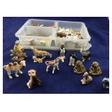 Collection of  Small Bone China Animals and Wades
