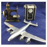 Kodak Box Camera and Aluminum Plane and....