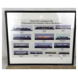 Framed Photographs of Ships on Chesapeake Bay