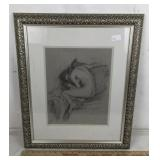 Signed Framed Pencil/Charcoal Illustration