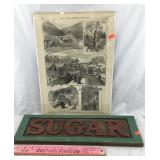 Sugar Sign & 1880s Illustrated Newspaper Art