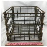 Old Metal Dairy Crate