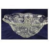 Large Pressed Glass Pattern Glass Punch Bowl