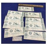 Republic of Texas Reproduction Currency Notes