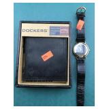 Boxed Dockers Leather Wallet and Armitron Watch